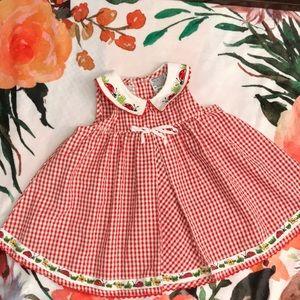Youngland Ladybug Gingham Dress size 6/9 months